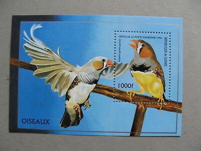 GUINEA, S/S MNH 1996, bird Taeniopygia guttata, Zebra finch