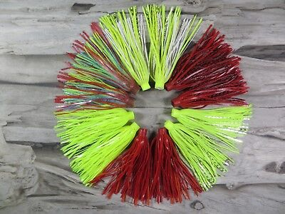 (LOT OF 12 - TERMINATOR QUICK CHANGE BASS FISHING SKIRTS - REPLACEMENT JIG SKIRTS)