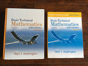 Math Text Book And Solutions Manual With Calculus