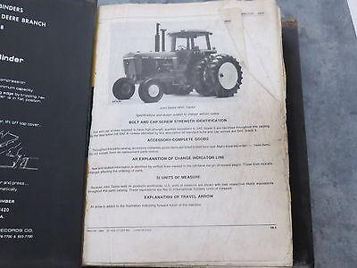 original John Deere 4640 4840 Tractor Parts Catalog Lot of 2 in Binder