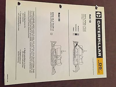 Caterpillar Cat D5 Hydraulics Brochure Original Antique Tractor New