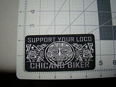 rectangle aztec design patch Chicano Biker patch jacket hat patch hispanic patch
