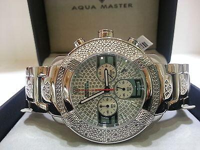 Mens Aqua Master Diamond Watch Silver Color W 96
