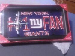 New York Giants NFL Football license plate wall clock