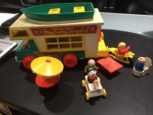 Vintage Fisher Price Play Family Camper Little People