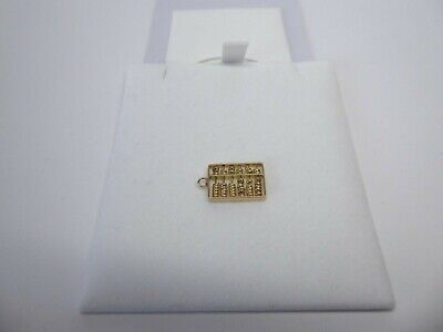 14ct 14carat Yellow Gold Traditional Charm, Abacus