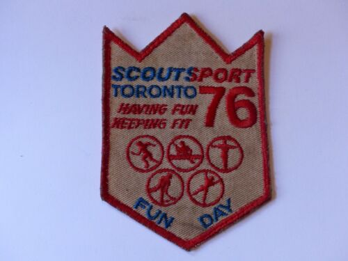 Vintage 1976 Scoutsport Toronto 76 Fun Day Scouts Canada Boy Scout Badge Patch