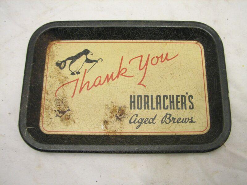 Vintage Advertising Bar Tip Tray Horlacher