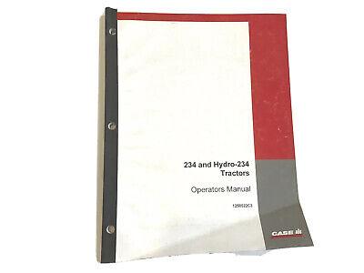Case Ih International 234 Hydro Tractors Operators Manual Stock 26aa