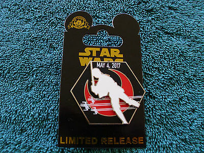 Disney Star Wars  May The 4Th Force Be With You   Luke  New On Card Limited Pin