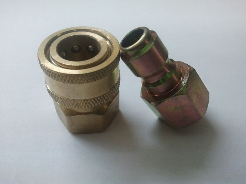 """3/8"""" Quick Connect Fittings for Pressure Washer Hose-New- Top Quality ALL BRASS"""