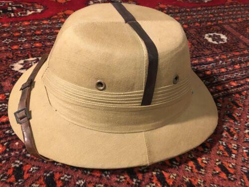 British WW2 Sun Helmet Bombay Bowler - sz 7 1/8, Original