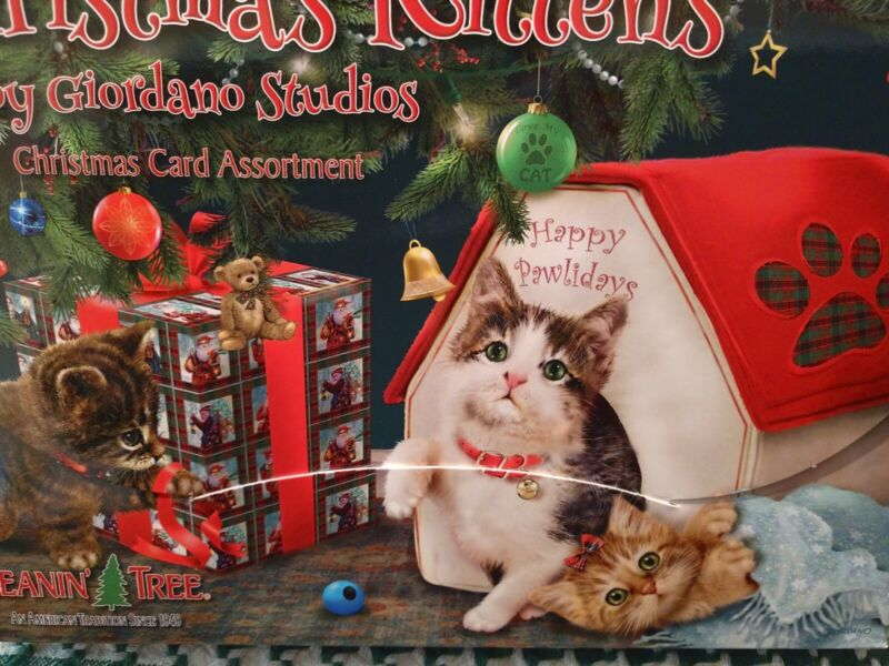 LEANIN TREE CHRISTMAS CARD SET 20 CARDS KITTENS CATS BUY IT NOW IN EBAY STORE !