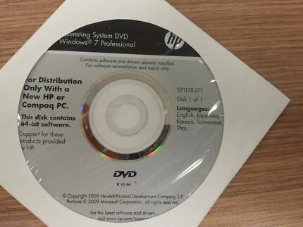 HP OEM Windows 10 and Windows 7 64 bit original genuine disks