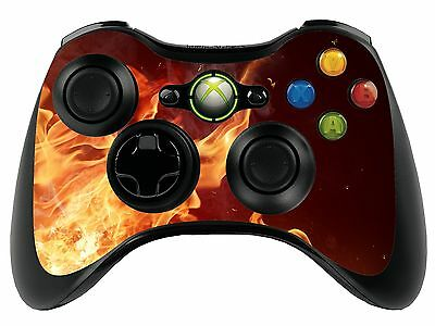 Fire Flames Xbox 360 Remote Controller/Gamepad Skin / Cover / Vinyl  xbr24