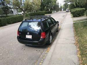 2002 black vw Jetta wagon
