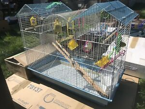 Budgie / Bird / Parrot Cage With Toys