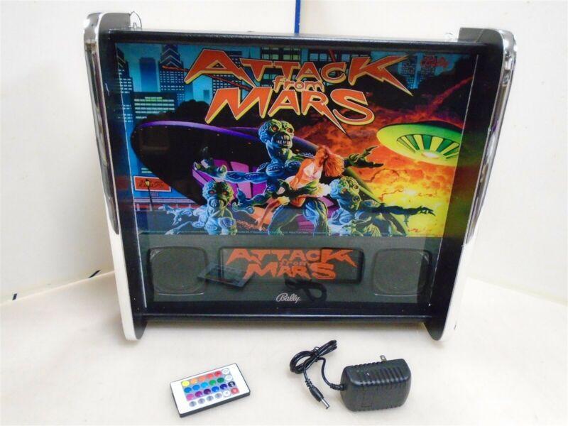 Bally Attack From Mars Pinball Head LED Display light box