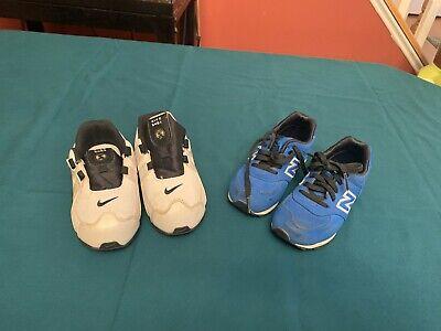 Childrens Shoes 2 Pair Lot 8 9c Nike New Balance