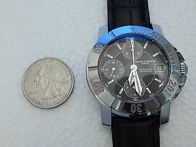BAUME MERCIER SOLID STAINLESS STEEL 40MM CAPELAND S AUTOMATIC CHRONOGRAPH