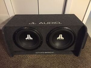 "Dual 12"" sub box and amp"