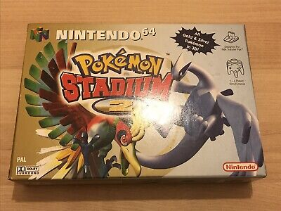 NINTENDO 64 POKEMON STADIUM 2 GOLD & SILVER N64 GAME COLLECTOR CONDITION COMPLET
