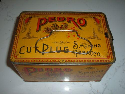 VINTAGE  PEDRO CUT PLUG SMOKING TOBACCO LUNCH BOX TIN