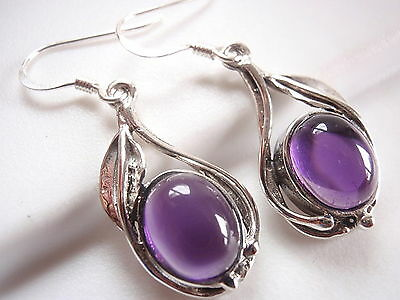 Amethyst Floral Wrapped Accents Earrings 925 Sterling Silver Corona Sun Jewelry  ()