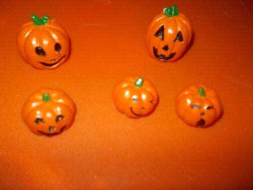Lemax Spooky Town Halloween 74239 Happy pumpkin family jack o lantern set 5