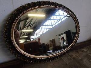 D5075 Lovely French Style Gold Framed Oval Mirror Mount Barker Mount Barker Area Preview