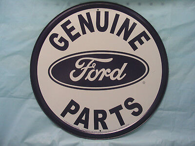 Ford Round Tin Metal Adverting Sign Auto Parts Car -