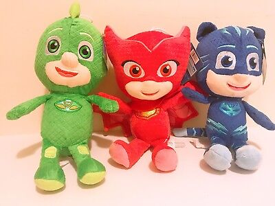Set Of 3 11  Pj Masks Character Catboy Owlette Gekko Plush Doll Stuff Animal Toy