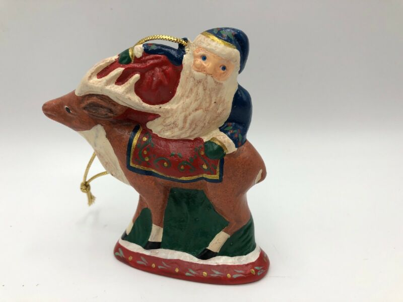 Chalkware Santa Ornament Walnut Ridge ?