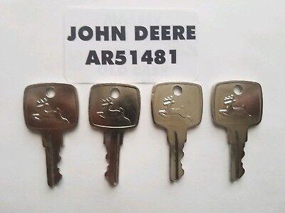 4 John Deere Ignition Key Fit 955 4200 4300 4400 4500 4600 4700 5200 5300 5400