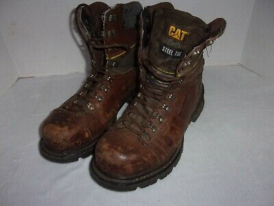 Caterpillar Men's High Ankle Steel Toe Work Boots Pre-Owned