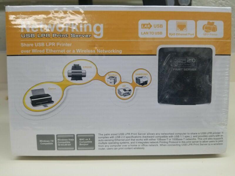 Wavlink USB 2.0 Printer Network LPR Print Server Share LAN Networking&100Mbps