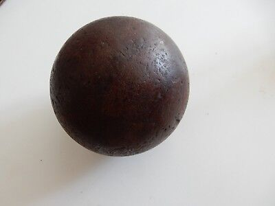 HARDWOOD TACTILE BALL SUPERB PATINA SUIT NEWEL POST FINIAL STAIRCASE UPCYCLE  A