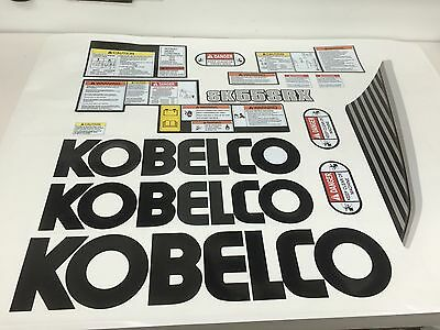 Kobelco Sk55 Srx Mini Excavator Decal Kit - Very High Quality Aftermarket Decals