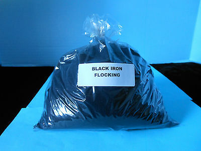 Black Nylon Flocking   Full 5 Ounce Bag   Black Duck  Crows  Decoy  Made In Usa