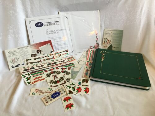 Creative Memories Holiday Scrapbook Lot 12 x 12 +2 10 Pgs. Stickers Christmas