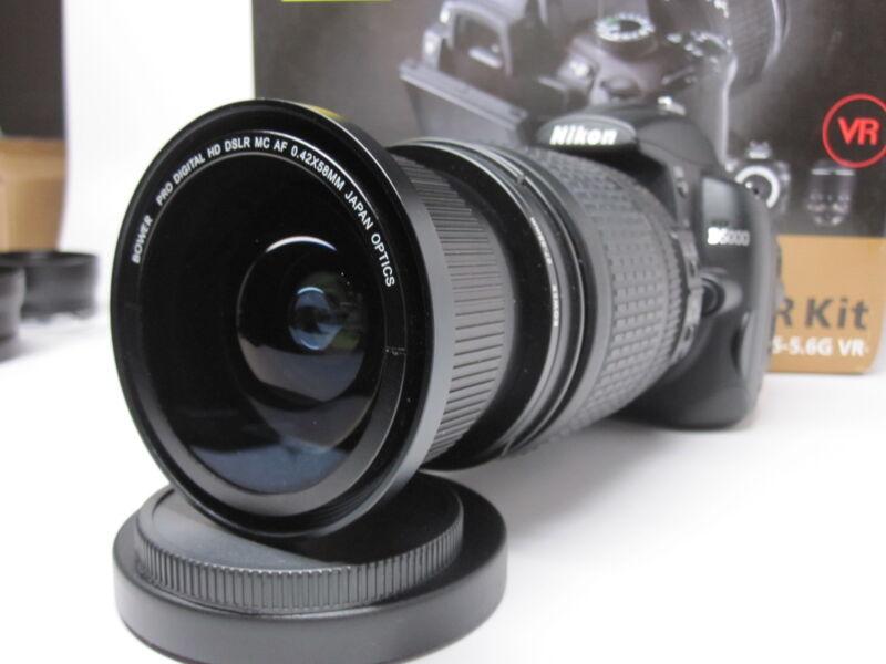 Ultra Wide Angle Macro Fisheye lens for Nikon d3200 d5100 d5300 18-140 AF-S DX