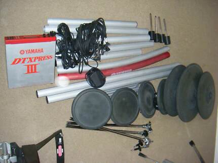 YAMAHA DTXPRESS III 3 DELUXE ELECTRONIC DRUM KIT + ACCESSORIES