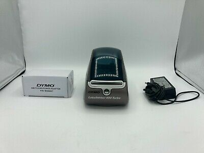 Dymo Labelwriter 400 Turbo 93176 Thermal Label Printer W Ac Adapter Usb Cable