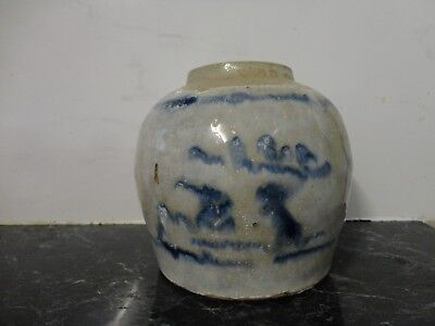 Antique Chinese ginger blue and white Jar/pot