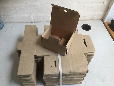 25 x Brown Die Cut Small Cardboard / Shipping / Postal Boxes.  FREE POSTING!!