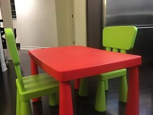 IKEA MAMMUT Chairs and Table