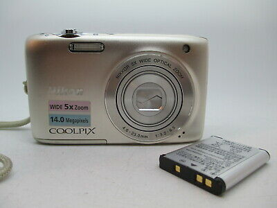 Nikon CoolPix S3100 Silver  Digital Camera