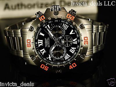 Invicta Men's 48mm Specialty Chronograph Black IP Stainless Steel Watch W/1 Slot