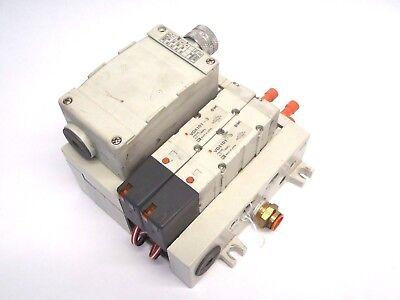 Smc Vq4000 Pneumatic Manifold With Vq4101-3 Solenoid Valves