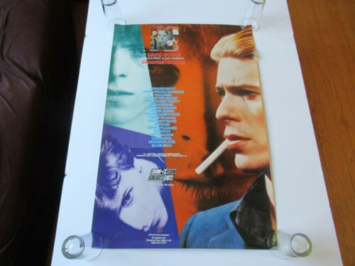 VINTAGE 1990 RYKODISC DAVID BOWIE CHANGESBOWIE PROMO 36x24 RECORD STORE POSTER